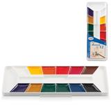 Краски акварельные ГАММА «Лицей», 12 цветов, медовые, пластиковая коробка, без кисти