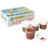 Краски акриловые «Металлэкс», 6 цветов по 20 мл, металлик, без кисти