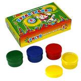 Краски пальчиковые «Яркая забава», 6 цветов по 60 мл