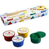 Краски пальчиковые ГАММА «Малыш», 4 цвета, 90 мл