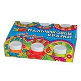 Краски пальчиковые флуоресцентные СПЕКТР «Яркая забава», 6 цветов по 60 мл, в баночках