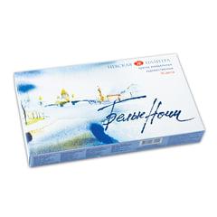 Краски акварельные художественные «Белые ночи», 36 цветов, кювета 2,5 мл, палитра, пластиковая коробка