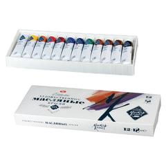Краски масляные художественные «Мастер-класс», 12 цветов по 18 мл, в тубах