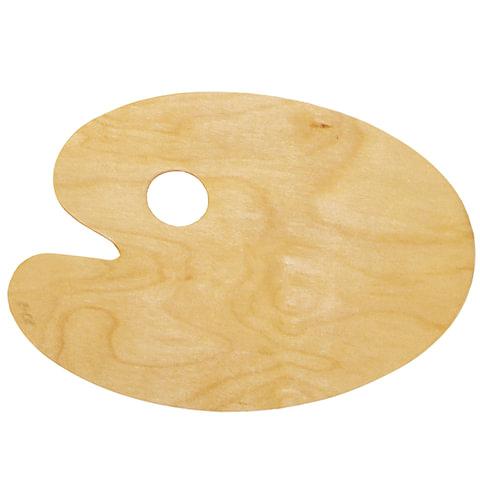 Палитра для рисования, деревянная, овальная, 20×30 см, толщина 3 мм