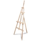 Мольберт напольный «Ученический», размер полок 130 см, угол 50-90°, в собранном виде 660×1825×880 мм