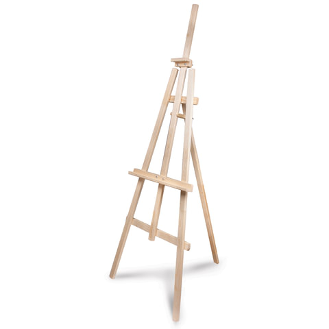 Мольберт напольный «Ученический», размер полок 130 см, угол 50-90°, в собранном виде 66×183×88 см