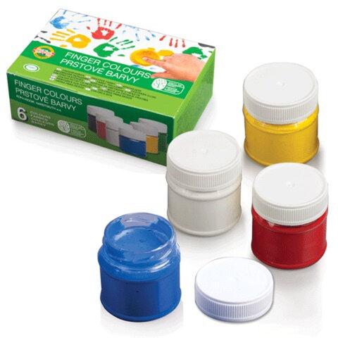 Краски пальчиковые KOH-I-NOOR «Лягушонок», 6 цветов, 300 мл, на водной основе, картонная коробка