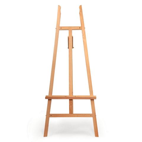 Мольберт напольный BRAUBERG (БРАУБЕРГ), бук, угол 60°, размер 61×152×67 см, высота холста 126 см