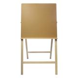 Мольберт напольный BRAUBERG (БРАУБЕРГ) «Хлопушка», размер планшета 60×60 см, в собранном виде 60×120×5 см