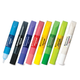 Краски по стеклу (витражные) BRAUBERG (БРАУБЕРГ), 8 цветов по 10,5 мл (2 флуор., 1 блест.), 2 пленки, 6 шаблонов, блистер
