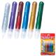 Гель-клей с блестками BRAUBERG (БРАУБЕРГ), 6 цветов по 10,5 мл (золотистый, серебр., красный, синий, зеленый, фиолетовый), блистер