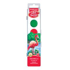 Краски акварельные ERICH KRAUSE Artberry, 6 цветов, медовые, без кисти, пластиковая коробка