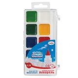 Краски акварельные ГАММА «Чудо-краски», 10 цветов, медовые, без кисти, пластиковая коробка, европодвес