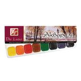Краски акварельные художественные ЛУЧ «Люкс», 8 цветов, на гуммиарабике, пластиковая коробка, без кисти