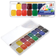 Краски акварельные ЛУЧ «Классика», 16 цветов, медовые, пластиковая коробка, с кистью