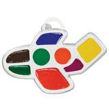 Краски акварельные фигурные ЛУЧ «Кроха», 8 цветов, «Самолетик», медовые, пластиковая коробка, без кисти