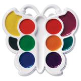 Краски акварельные фигурные ЛУЧ «Кроха»,10 цветов, «Бабочка», медовые, пластиковая коробка, без кисти