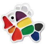 Краски акварельные фигурные ЛУЧ «Кроха», 9 цветов, «Рыбка», медовые, пластиковая коробка, без кисти