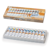 Краски масляные художественные «Ладога», 12 цветов, туба по 18 мл