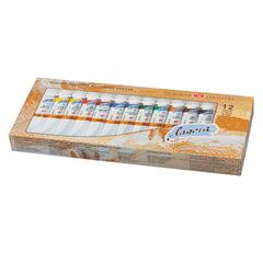 Краски масляные художественные «Ладога», 12 цветов по 18 мл, в тубах