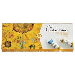 Краски масляные художественные «Сонет», 12 цветов по 10 мл, в тубах