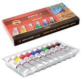 Краски акриловые KOH-I-NOOR «Пейзаж», 10 цветов по 16 мл, картонная коробка