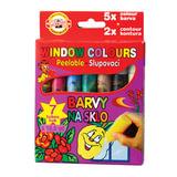 Краски по стеклу (витражные) KOH-I-NOOR 7 цветов по 10,5 мл, картонная коробка с европодвесом