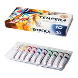 Краски темперные KOH-I-NOOR «Бабочка», 10 цветов по 16 мл, картонная коробка