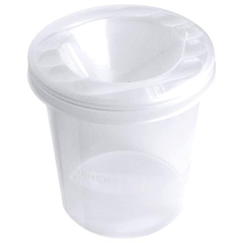 Стакан-непроливайка СТАММ «Cristal», белый, прозрачный