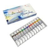 Краски акварельные художественные 12 цветов, «Белые ночи», туба 10 мл, картонная коробка