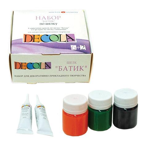 Краски акриловые по ткани «Декола», «Батик-Хобби», 6 цветов, 50 мл + резерв 2 тюбика по 18 мл