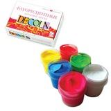 Краски акриловые «Декола», 6 цветов по 20 мл, флуоресцентные