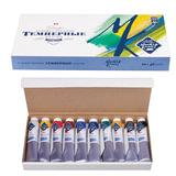 Краски темперные художественные «Мастер-класс», 10 цв., 46 мл, в картонной коробке