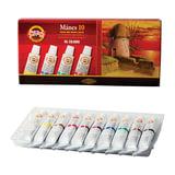Краски масляные художественные KOH-I-NOOR «Manes», 10 цветов, туба 16 мл, картонная коробка