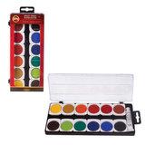 Краски акварельные художественные KOH-I-NOOR, 12 цветов, кроющие, пластиковая коробка с европодвесом