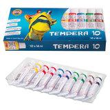 Краски темперные KOH-I-NOOR, 10 цветов по 16 мл, картонная коробка