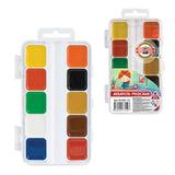 Краски акварельные KOH-I-NOOR, 10 цветов, медовые, пластиковая коробка, без кисти