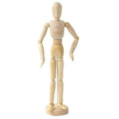 Манекен (кукла) человека художественный BRAUBERG ART, мужской, дерево, высота 30 см