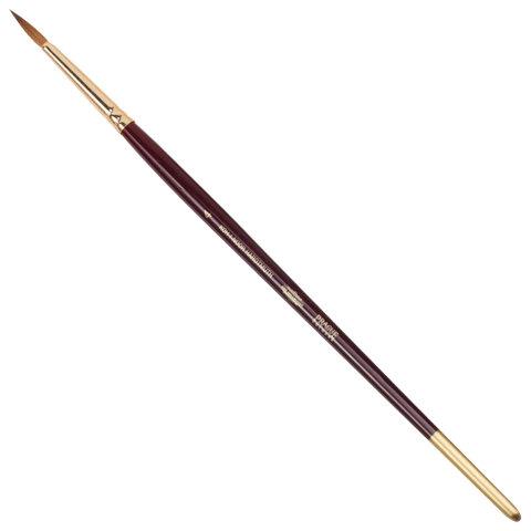 Кисть художественная KOH-I-NOOR колонок, круглая, №4, короткая ручка, блистер
