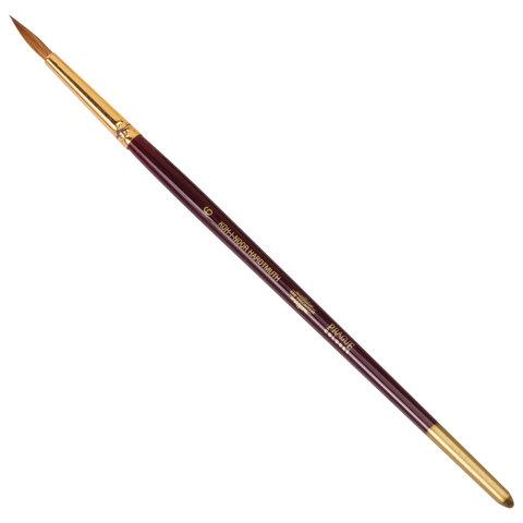 Кисть художественная KOH-I-NOOR колонок, круглая, №6, короткая ручка, блистер