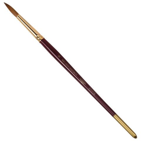 Кисть художественная KOH-I-NOOR колонок, круглая, №9, короткая ручка, блистер