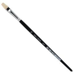 Кисть KOH-I-NOOR щетина, плоская, №12, короткая ручка