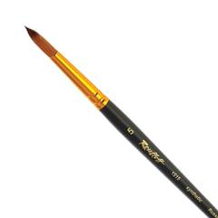 Кисть художественная ROUBLOFF (Рублев), синтетика, под колонок, круглая, № 5, короткая ручка