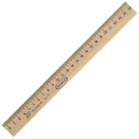 Линейка деревянная, 25 см
