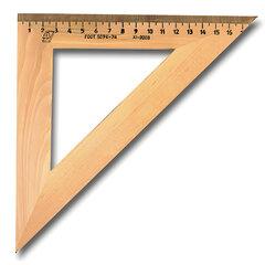 Треугольник деревянный, угол 45, 18 см, УЧД