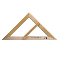 Треугольник для классной доски (треугольник классный), деревянный, 45×45×90 градусов, равнобедренный, без шкалы