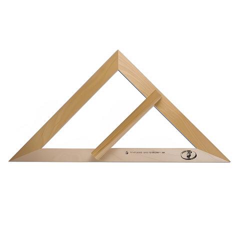 Треугольник для классной доски деревянный 45х45х49 см, равнобедренный, без шкалы