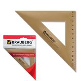 Треугольник BRAUBERG (БРАУБЕРГ), 45×16,5 см, тонированный, прозрачный, упаковка с европодвесом