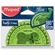Транспортир MAPED (Франция) «Twist'n Flex», 10 см, 180 градусов, гибкий, тонированный, ассорти, европодвес