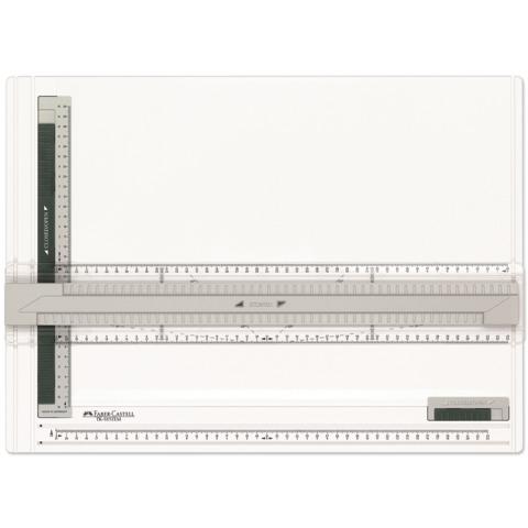 Доска-планшет чертежная FABER-CASTELL «TK-Система», формат А3 (515мм х 375мм), с рейсшиной